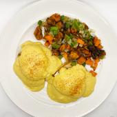 Classic Benedict w/ Sweet Potato Hash