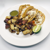 Breakfast Tacos w/ Red Roasted Potatoes