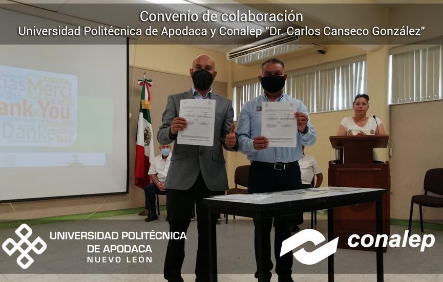 """Firma de convenio con Conalep """"Dr. Carlos Canseco González"""""""