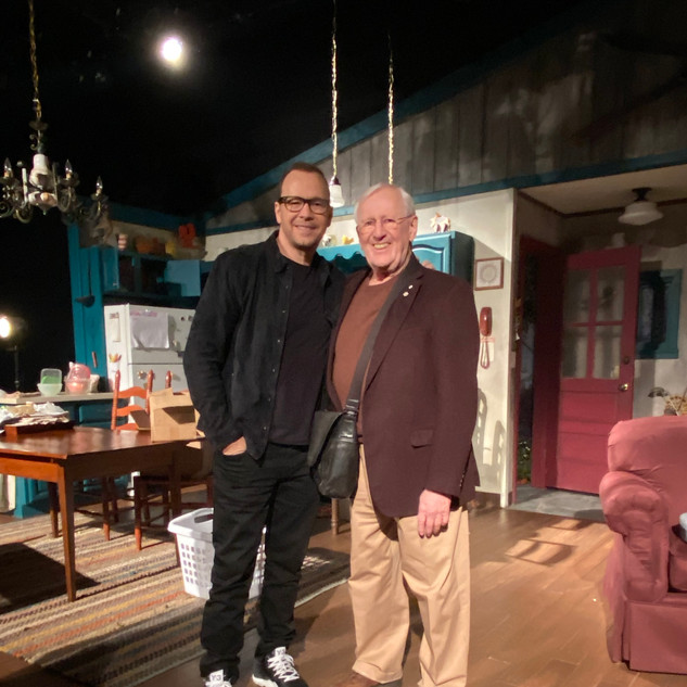 Len Cariou and Donnie Wahlberg