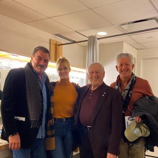 Tom Selleck, Abigail Hawk, Len Cariou and Greg Jbara