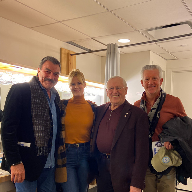 Tom Selleck, Abigail Hawk, Len Cariou and Greg Jbara