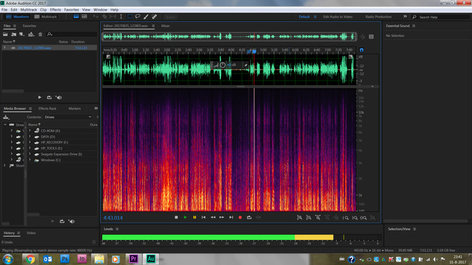 Fixing background sounds in Adobe Auditions
