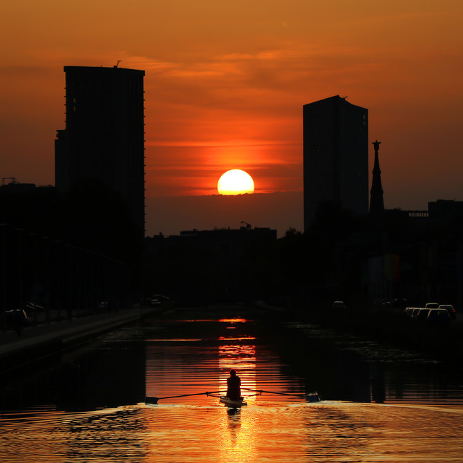 Eindhoven Canal Sunset now for sale!