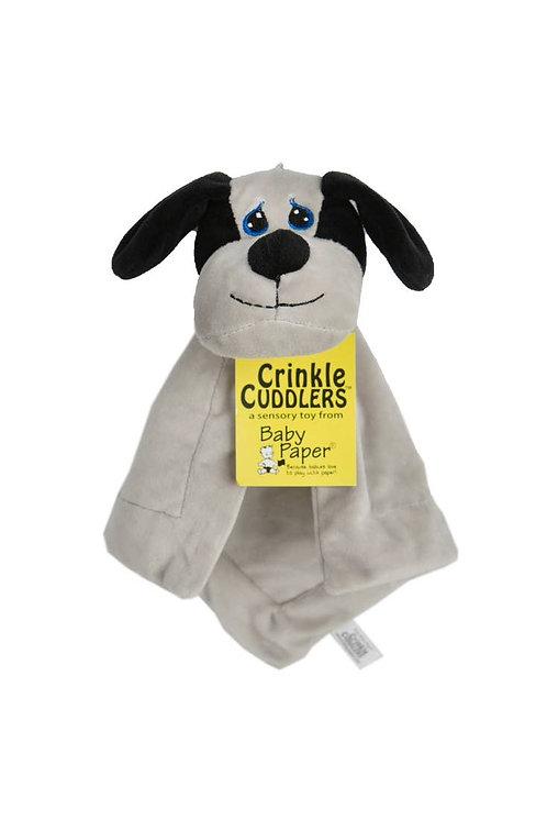 Dog Crinkle Cuddler by Baby Paper