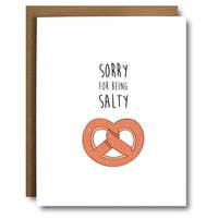 Punny Pretzel I'm Sorry Card