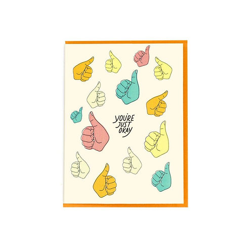 You're Just Okay Card by Paisley Paper Co.