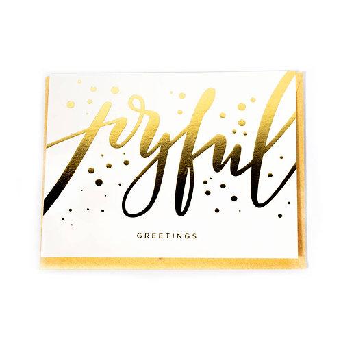 Joyful Greetings Card by Paisley Paper Co.