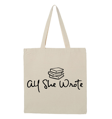 All She Wrote Books Tote Bag