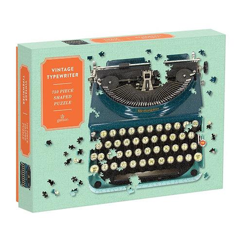 Vintage Typewriter 750 Piece Shaped Puzzle