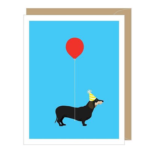 Dachshund Greeted Birthday Card