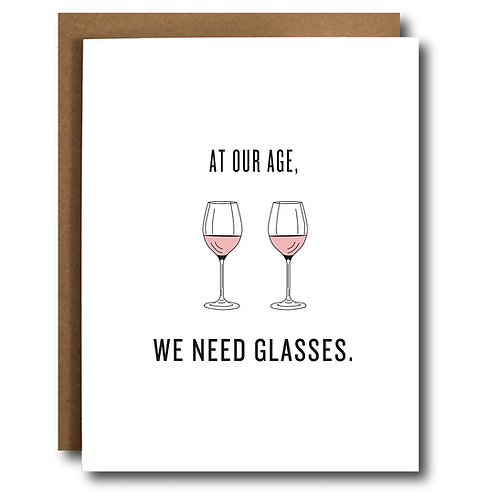 Glasses of Wine/Rosé Birthday Card