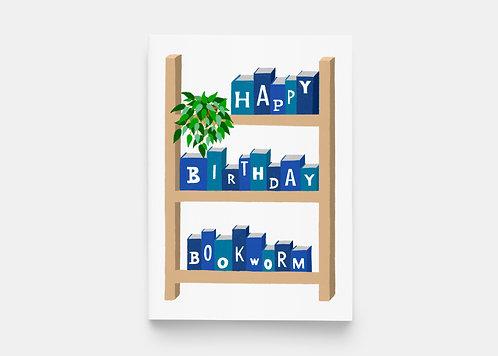 Happy Birthday Book Shelf Greeting Card