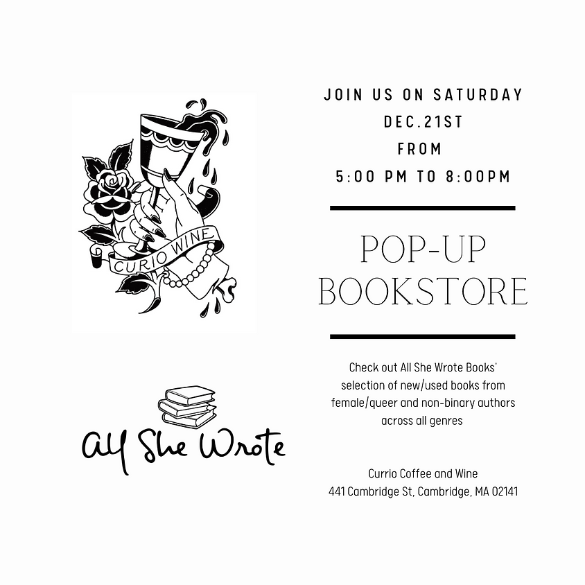 All She Wrote Books Pop-up at Curio Wine Bar