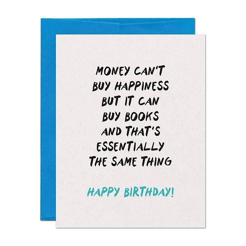 Birthday Book Money Card