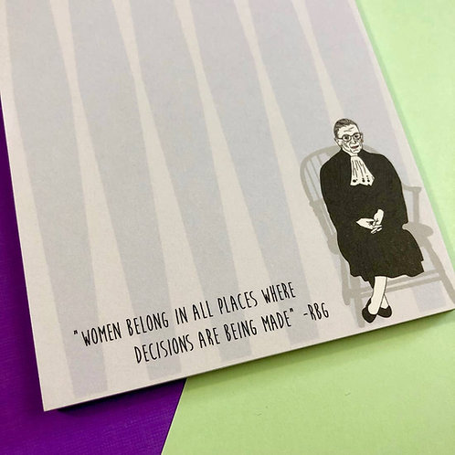 Ruth Bader Ginsburg Quote Notepad