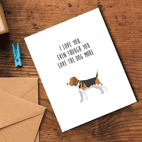 Dog Love Card