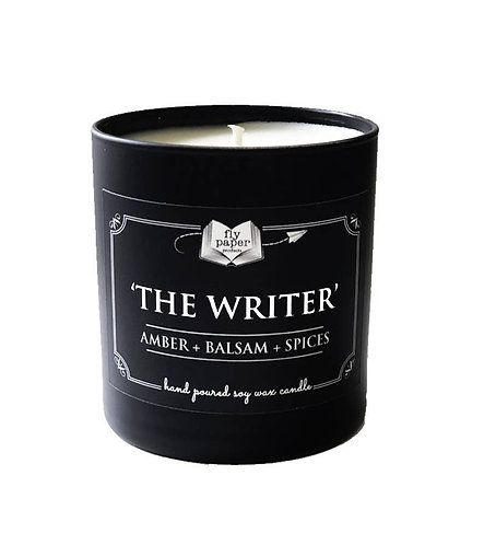 'The Writer' 11oz Boxed Black Matte Tumbler Candle