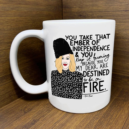 "Moira ""Ember of Independence"" Mug by Citizen Ruth"