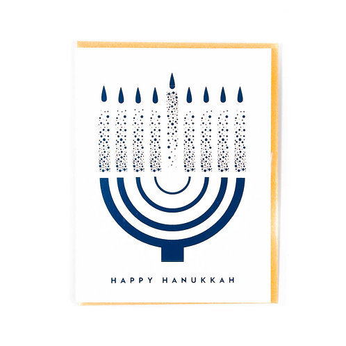 Happy Hanukkaah Card by Paisley Paper Co.