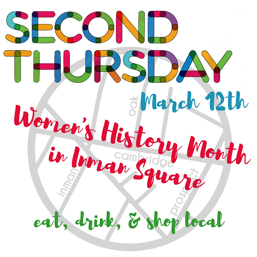 CANCELED: Second Thursdays in Inman Square - March