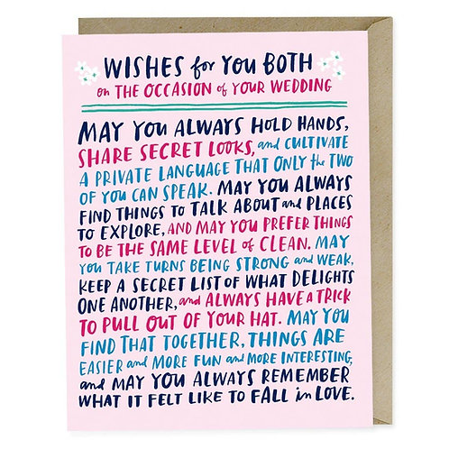 Wishes For You Both Wedding Card by Emily McDowell & Friends
