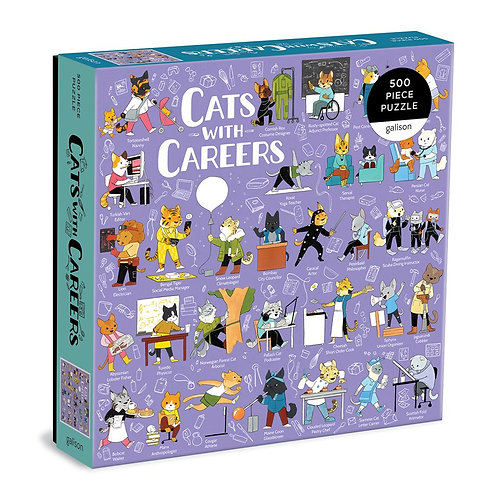 Cats with Careers 500 Piece Puzzle