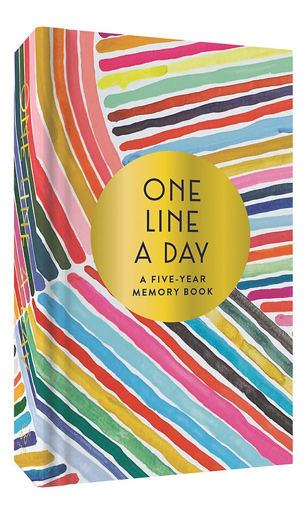 Rainbow One Line a Day: A Five-Year Memory Book