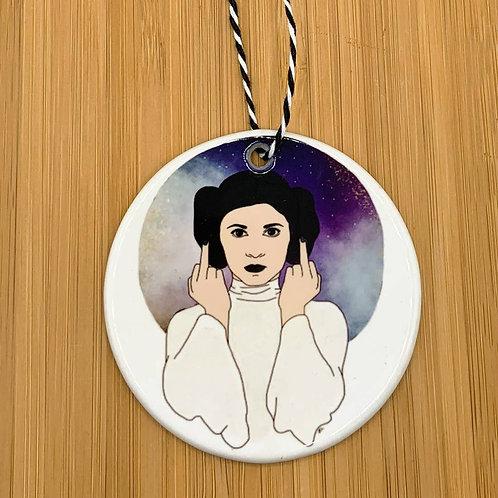 Leia Middle Finger Ornament