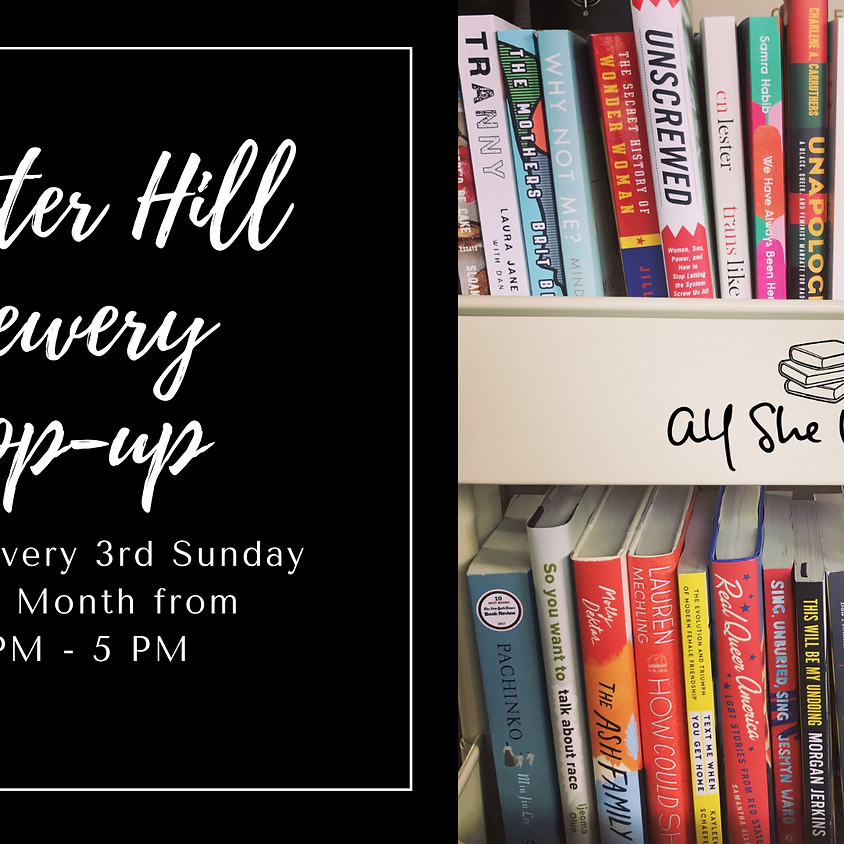 All She Wrote Books Monthly Pop-up @WHBC