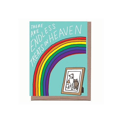 Treats in Heaven Pet Sympathy Card