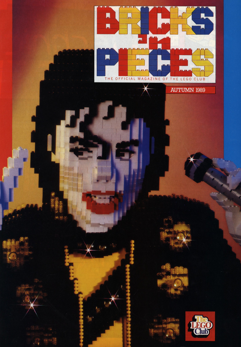 LEGO Michael Jackson, as he originally appeared on the cover of the Autumn issue of Bricks 'n Pieces