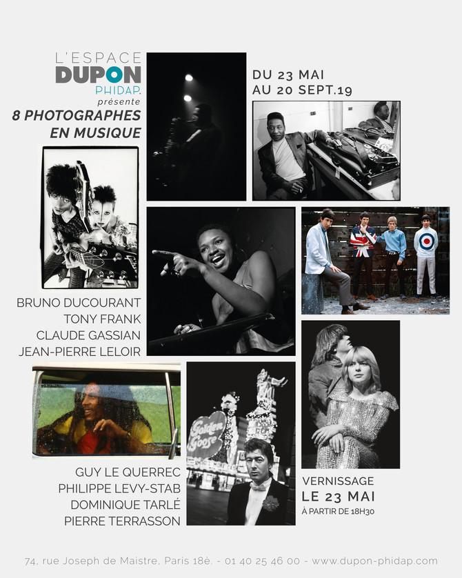 """EXPOSITION COLLECTIVE                        """"8 Photographes en musique"""" chez Dupon-Phidap"""