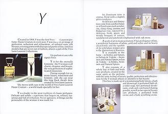 Yves Saint Laurent Parfums - Catalogue 1984