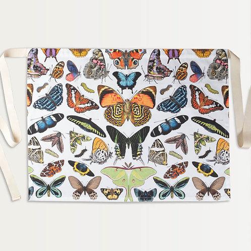 Cotton Apron in Butterflies