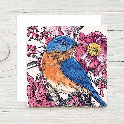 Bird with Flowers Card Set (10)