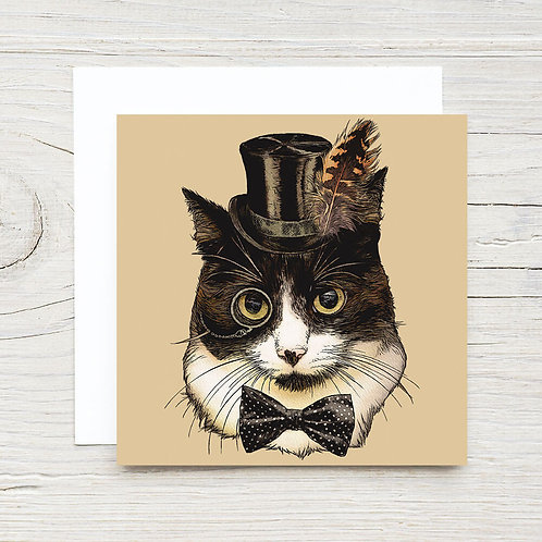 Cat in Top Hat Gift Card Set (10)