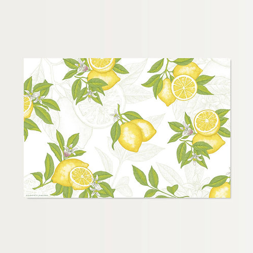 Lemons All Over Paper Placemats