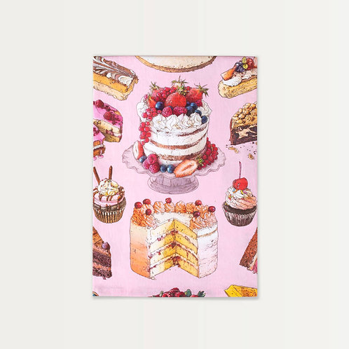 Cake for Days on Pink Cotton Towel