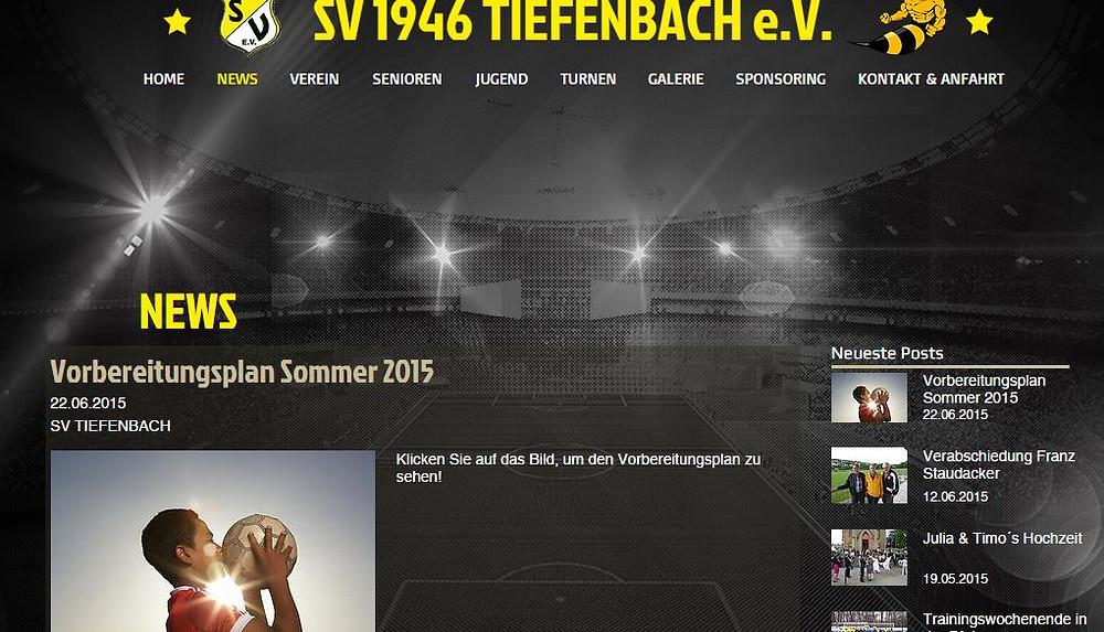 News auf der neuen Homepage