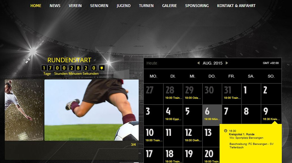 Startseite auf der neuen Homepage