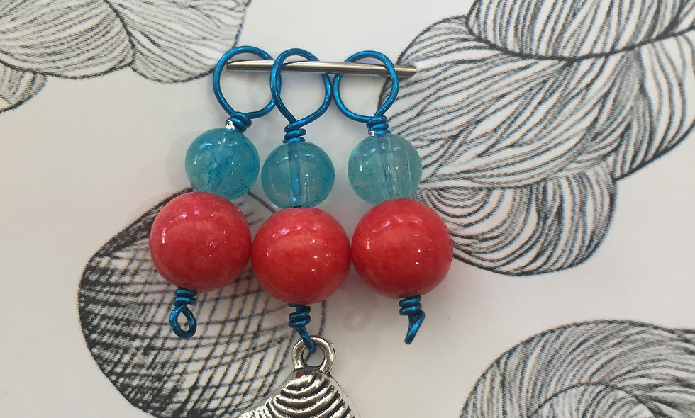 She Sells Seashells 4-pack Stitch markers