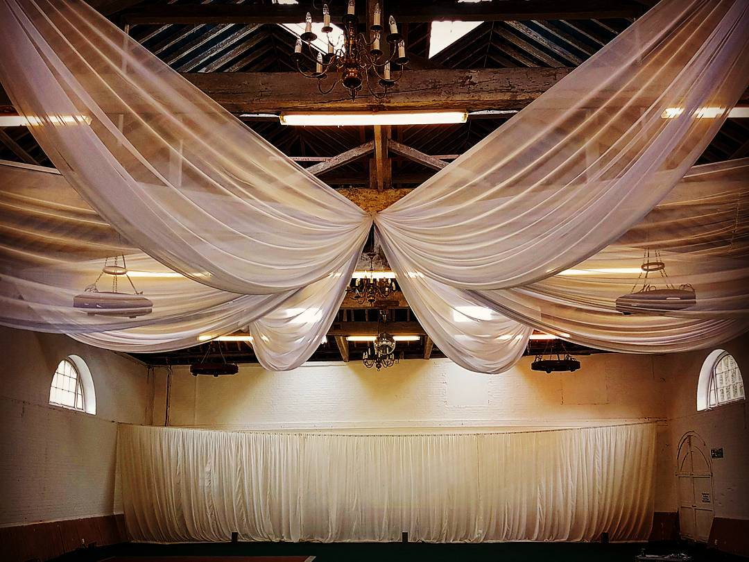 Barn Wedding Ceiling Decoration