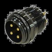 Conector Circular 04 Vias Blindado (Macho)