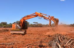 Excavator for rehab