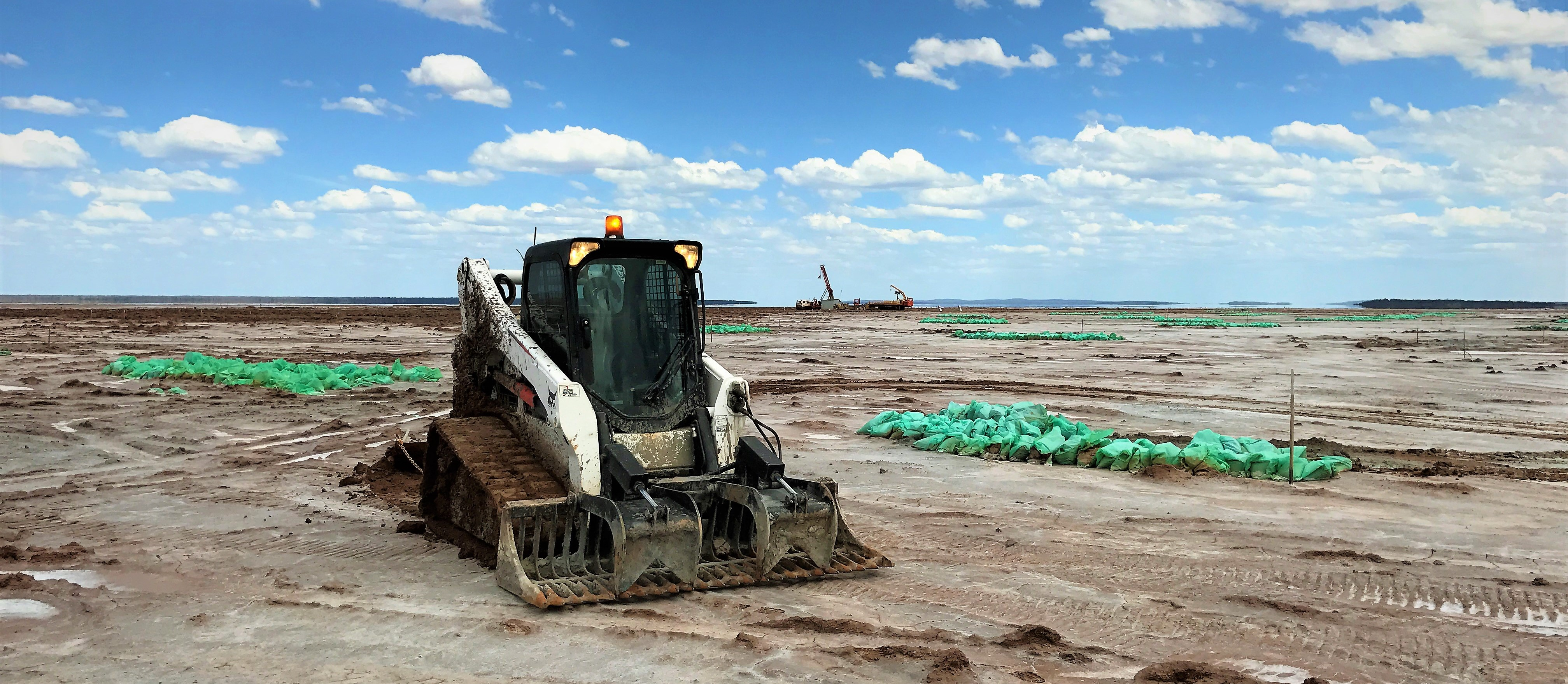 T770 Bobcat on salt lake