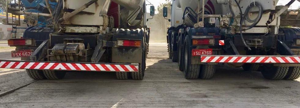 Two concrete trucks on E7M