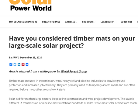Solar Power World Features #ABetterTimberMat