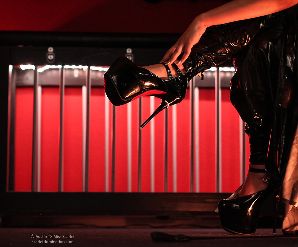 Copyright.  Foot and shoe kink image behind wishlisht of Mistress Scarlet Vexus