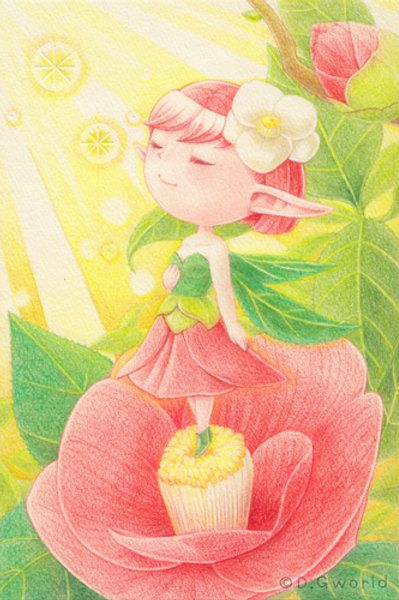 November's birth flower: Camellia - By D.G